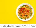 Thai food, Stir-fried rice noodles (Pad Thai) 77508742