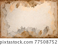 Old brown paper grunge background. Abstract liquid coffee color texture. 77508752