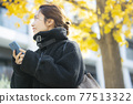 Woman in coat 77513322