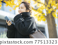 Woman in coat 77513323