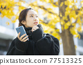 Woman in coat 77513325
