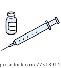 injecting, injection, vaccine 77518914