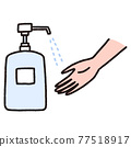 disinfection, hand, vector 77518917