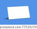 명함목업 목업 연출 오브젝트 포트폴리오  세로명함 가로명함 명함 77520239