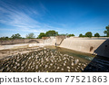 Reinforced Concrete Irrigation Canal with Dam in the Padan Plain - Lombardy Italy 77521863