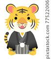 老虎 虎 和服 77522006