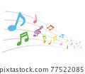 筆記 音符 音樂 77522085
