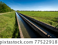 Two Small Concrete Irrigation Canals in the Padan Plain - Lombardy Italy 77522918
