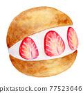 watercolour, watercolors, baked sweet 77523646