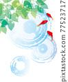金魚 漣漪 波紋 77523717