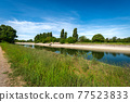 Reinforced Concrete Irrigation Canal in the Padan Plain - Lombardy Italy 77523833