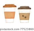 咖啡 喝咖啡 水彩畫 77523860