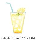 檸檬水 水彩畫 檸檬 77523864
