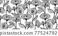 원활한 꽃 무늬 패턴 77524792