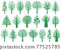 綠樹圖標插圖集 77525785