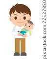 ikumen(喜歡育兒的男性) 嬰兒 寶寶 77527850