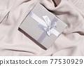 Gray silk styled stock scene 77530929