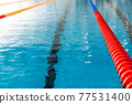 swimming pool ready for swimming competition 77531400