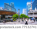 <Tokyo> Yurakucho station square, downtown 77532741