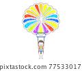 滑翔傘 降落傘 跳傘 77533017