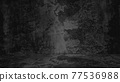 Old black background. Grunge texture. Dark wallpaper. Blackboard Chalkboard Concrete 77536988