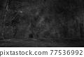 Old black background. Grunge texture. Dark wallpaper. Blackboard Chalkboard Concrete 77536992