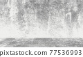 Grungy white background of natural cement or stone old texture as a retro pattern wall. Conceptual wall banner, grunge, material,or construction. 77536993