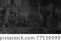 Old black background. Grunge texture. Dark wallpaper. Blackboard Chalkboard Concrete 77536999