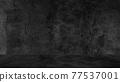 Old black background. Grunge texture. Dark wallpaper. Blackboard Chalkboard Concrete 77537001