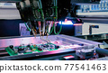 Flying probe test at factory - quality testing of printed circuit boards 77541463