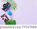 camera films, airplane, passport, world and traveler accessories 77547689