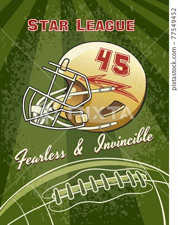 Star League Graphic with Helmet and Football 77549452