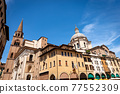 Basilica and Cathedral of Sant Andrea in Mantua Downtown - Lombardy Italy 77552309
