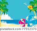 熱帶海灘的插圖 77552373