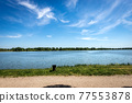 The Lower Lake of Mantua or Mincio River in Lombardy Italy 77553878