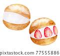 watercolour, watercolors, baked sweet 77555886