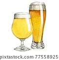 啤酒 淡啤酒 啤酒杯 77558925