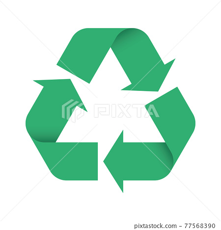 3D Green Universal Recycling Symbol 77568390