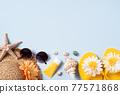 夏天 夏季 海灘 旅遊 背景 Travel to beach in summer 夏休み ビーチ 77571868