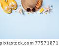 夏天 夏季 海灘 旅遊 背景 Travel to beach in summer 夏休み ビーチ 77571871