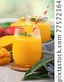 果汁水果汁果汁夏季飲料新鮮芒果多汁芒果汁芒果 77572364