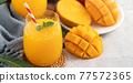 果汁水果汁果汁夏季飲料新鮮芒果多汁芒果汁芒果 77572365