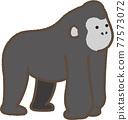 Gorilla cute illustration 77573072
