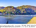 togetsu bridge, Arashiyama, katsura river 77575307