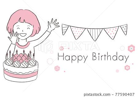 girl, young girl, birthday 77590407