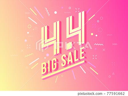4.4 Shopping day sale poster or flyer design. 4.4 Crazy sales online. 77591662