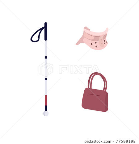Medical devices flat color vector objects set 77599198