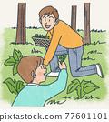 산나물 채취 77601101