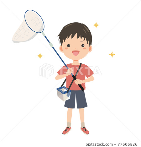 bug catching, insect catching, baby boy 77606826