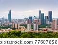 Shenzhen, China Downtown Skyline 77607858